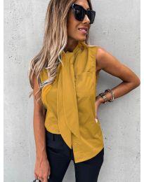 Елегантна дамска риза в цвят горчица - код 5531