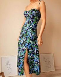 Дамска рокля с атрактивен десен - код 8584