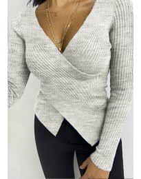 Дамска блуза в сиво - код 6322