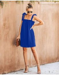 Свободна рокля в синьо - код 482