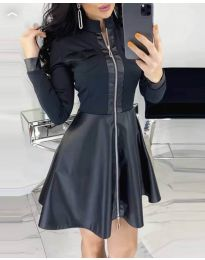 Дамска рокля в черно - код 8424