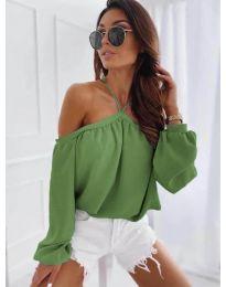 Дамска блуза в зелено - код 6561
