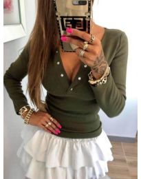 Блуза - код 082 - зелено