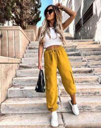 Дамски панталон в цвят горчица - код 0334