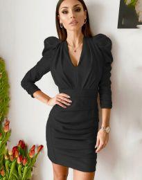 Дамска рокля в черно - код 7937
