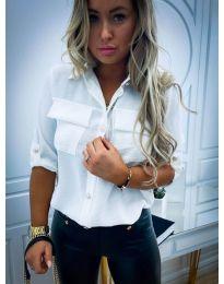 Дамска бяла риза - код 102