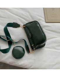 Дамска чанта в маслено зелено - код 3344