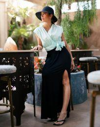 Дамска пола в черно с цепка - код 8231