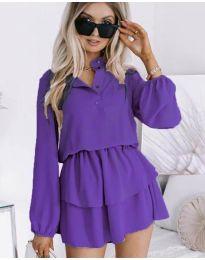 Дамска рокля в тъмно лилаво - код 4093