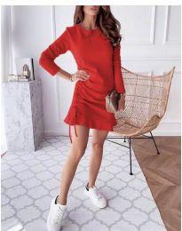 Дамска рокля в червено - код 832