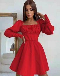 Стилна дамска рокля в червено - код 8150