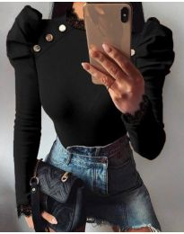 Екстравагантна дамска блуза в черно - код 9630