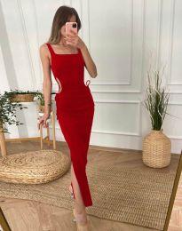 Дамска рокля в червено - код 1272