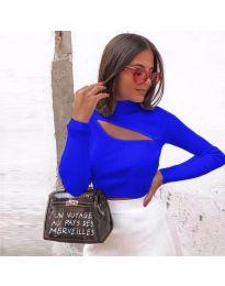 Дамска блуза в синьо - код 9622