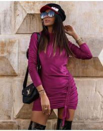 Дамска рокля в  лилаво - код 9545