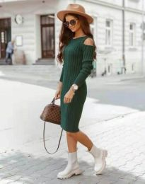 Модерна дамска рокля в зелено - код 8203