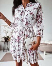 Дамска рокля с флорален десен - код 0586 - 2