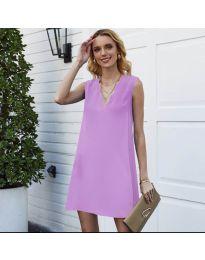 Свободна изчистена рокля в лилаво - код 1429