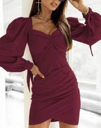 Дамска рокля  в цвят бордо - код 0363