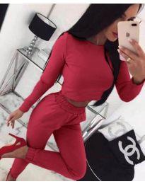 Дамски комплект в цвят бордо - код 906