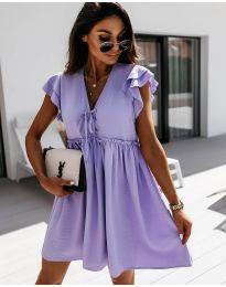 Свободна рокля в лилаво - код 2093