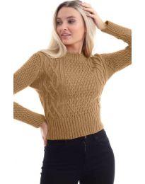 Дамска блуза в кафяво - код 145