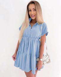 Свободна къса рокля в светлосиньо - код 8889