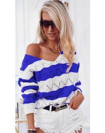 Дамска блуза в синьо - код 8689