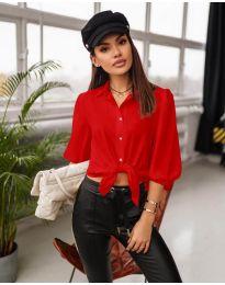 Дамска риза в червено - код 7482