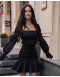 Елегантна рокля в черно - код 3605