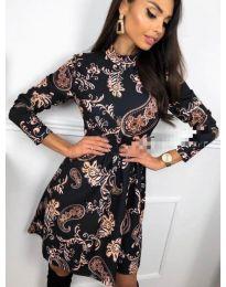 Дамска рокля с ефектен десен - код 7272 - 4