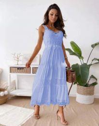 Атрактивна дамска рокля в светлосиньо - код 4672