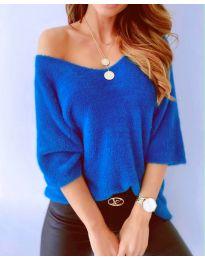Дамска блуза в тъмно синьо - код 901