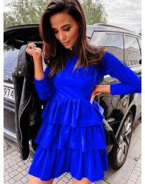 Свободна дамска рокля в синьо - код 3109
