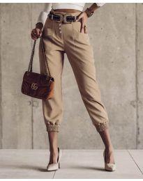 Дамски панталон в бежово - код 2490