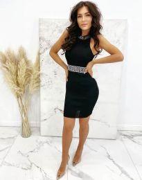 Елегантна рокля по тялото в черно - код 2593