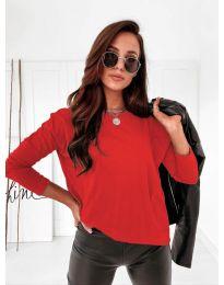 Дамска блуза в  червено - код 5582