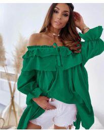 Ефектна рокля в зелено - код 9865