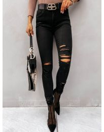 Дамски дънки в черно - код 4275