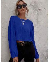 Дамска блуза в синьо - код 5932