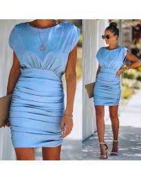 Елегантна рокля в  светло синьо - код 1158
