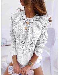 Елегантна дамска блуза в бяло - код 790
