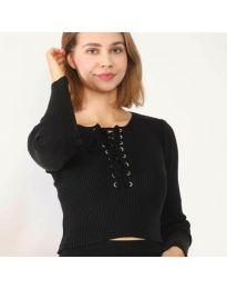 Дамска блуза в черно - код 6365