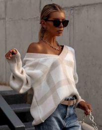 Ефектен дамски пуловер - код 0432 - 3