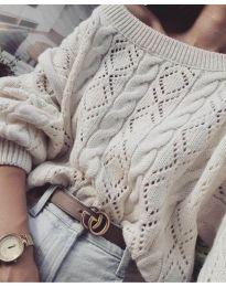 Дамски пуловер в бежово - код 5147