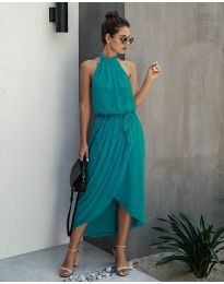 Свободна рокля в маслено зелено - код 100