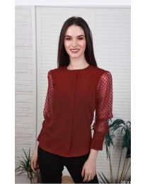 Елегантна дамска блуза в цвят бордо - код 0631