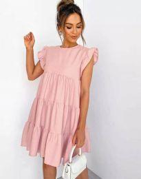 Свободна рокля в розово - код 2666
