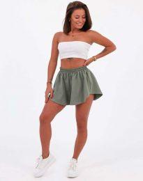 Атрактивни къси панталони в масленозелено - код 11979