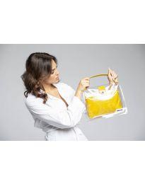 Дамска чанта в жълто- код YF - D2025